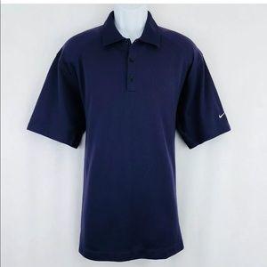NIKE Golf Polo Shirt Men's XL Purple
